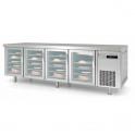 Mesa Congelación 60X40 A/inox Puertas de Cristal Coreco MCPV-150 (ver opciones)