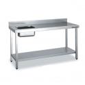 Mesa de Trabajo con Cubeta gama 600 (1000x600x850)