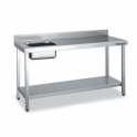 Mesa de Trabajo con Cubeta gama 600 (1200x600x850)