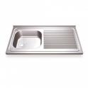 Fregadero Acero Inox. 800x500 - 1 seno + escurridor derecha (ver opciones)