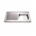 Fregadero Acero Inox. 800x500 - 1 seno + escurridor izquierda (ver opciones)