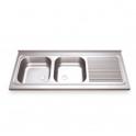 Fregadero Acero Inox. 1200x500 - 1 seno + escurridor derecha (ver opciones)