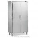 Armario de pie con puertas practicables 600x600x1900h Acero inox.