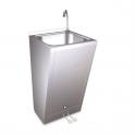 Lavamanos registrable con doble pedal de agua fria y caliente Fricosmos