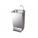 Lavamanos registrable con pedestal un pulsador agua fria y caliente Fricosmos
