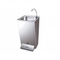 Lavamanos registrable con pedestal doble pulsador agua fria y caliente Fricosmos