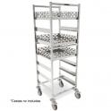Carro para cestas de vajilla Acero inox. 625x637