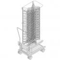 Rack móvil para molde pizza 400x600  (Consultar precio)