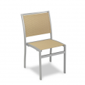 Silla Modelo M165-1 Aluminio con asiento y respaldo en textiline crema-beige (Consultar disponibilidad)