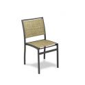 Silla Modelo M165-2 Aluminio con asiento y respaldo en textiline crema-beige (Consultar disponibilidad)