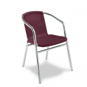 Sillon Modelo M280 Aluminio anodizado con asiento y respaldo en médula sintética (Consultar disponibilidad)