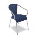 Sillon Modelo M281 Aluminio anodizado con asiento y respaldo en médula sintética (Consultar disponibilidad)
