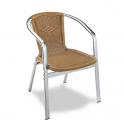 Sillon Modelo M282 Aluminio anodizado con asiento y respaldo en médula sintética (Consultar disponibilidad)