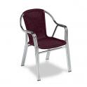 Sillon Modelo M284 Doble Tubo aluminio anodizado con asiento y respaldo en médula sintética (Consultar disponibilidad)