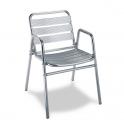 Sillon Modelo M290 Aluminio anodixado con asiento y respaldo en costillas de aluminio (Consultar disponibilidad)