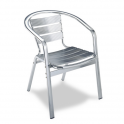 Sillon Modelo M292 Aluminio anodixado con asiento y respaldo en costillas de aluminio (Consultar disponibilidad)