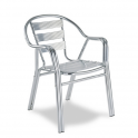 Sillon Modelo M294 Doble Tubo aluminio anodizado con asiento y respaldo en costillas de aluminio (Consultar disponibilidad)