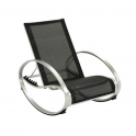Tumbona Modelo 607 Tubo de aluminio anodizado con textiline negro (Consultar disponibilidad)
