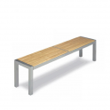 Banco Modelo 930 Tubo aluminio plastificado y asiento barras de madera (Consultar disponibilidad)