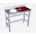Mesas de preparación y lavado Fricosmos 1000X500mm 072802