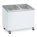 Arcón Congelador Eurofred IC 300 SCEB. Tapa Corredera Cristal Curvo 1010x615x949 mm