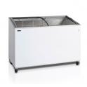 Arcón Congelador Eurofred IC 400 SCEB. Tapa Corredera Cristal Curvo 1300x615x949 mm