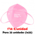 MASCARILLAS FFP2 NR CE (Para 25 Ud) ROSA