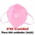 MASCARILLAS FFP2 NR CE (Para 100 Ud) ROSA