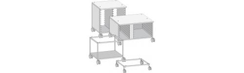 Mesas móviles para modelos 61/101 y 62/102